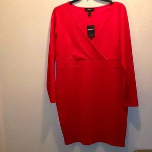 Sexy red knit dress
